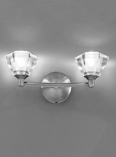 Franklite FL2294/2 Satin Nickel Wall Light